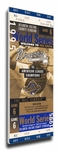 1995 World Series Canvas Mega Ticket - Atlanta Braves