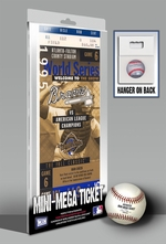 1995 World Series Mini-Mega Ticket - Atlanta Braves