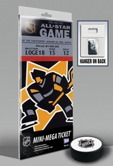 1996 NHL All-Star Game Mini-Mega Ticket - Boston Bruins - MVP Mike Piazza
