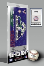 1998 MLB All-Star Game Mini-Mega Ticket - Colorado Rockies - MVP Roberto Alomar