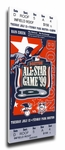 1999 MLB All-Star Game Canvas Mega Ticket, Red Sox Host - MVP Pedro Martinez, Red Sox