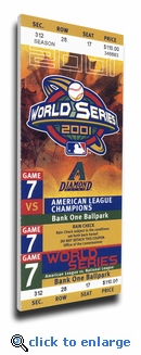 2001 World Series Canvas Mega Ticket - Arizona Diamondbacks