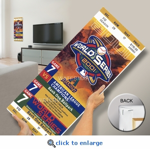 2001 World Series Mega Ticket - Arizona Diamondbacks