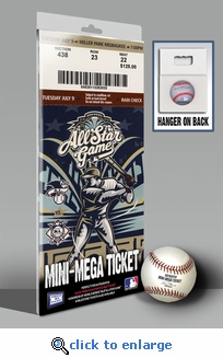 2002 MLB All-Star Game Mini-Mega Ticket - Milwaukee Brewers - MVP J. D. Drew