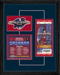 2002 World Series Replica Ticket & Patch Frame - Anaheim Angels