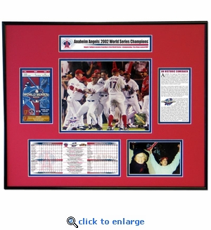 2002 World Series Ticket Frame - Angels