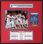 2002 World Series Ticket Frame Jr - Angels
