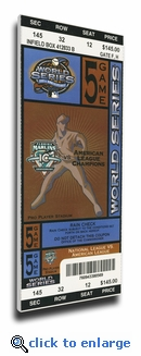 2003 World Series Canvas Mega Ticket - Florida Marlins