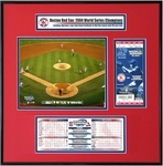 2004 World Series Ticket Frame Jr - Boston Red Sox
