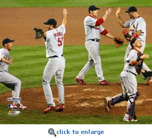 2006 NLCS Champion St Louis Cardinals Game 7 Team Celebration  8x10 Photo