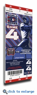 2006 World Series Canvas Mega Ticket - St Louis Cardinals