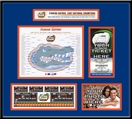 2007 Final Four Ticket Frame - Florida Gators