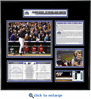 2007 NLCS Ticket Frame - Rockies