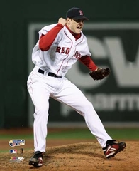 2007 World Series Game 2 Jonathan Papplebon Red Sox 8x10 Photo