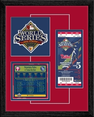 2008 World Series Replica Ticket & Patch Frame - Philadelphia Phillies