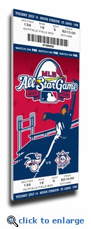2009 MLB All-Star Game Canvas Mega Ticket, Cardinals Host - MVP Carl Crawford, Rays