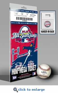 2009 MLB All-Star Game Mini-Mega Ticket, Cardinals Host - MVP Carl Crawford, Rays