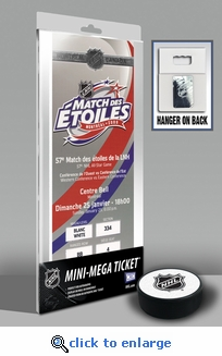 2009 NHL All-Star Game Mini-Mega Ticket - Montreal Canadiens - MVP Carl Crawford