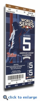 2009 World Series Canvas Mega Ticket - Philadelphia Phillies