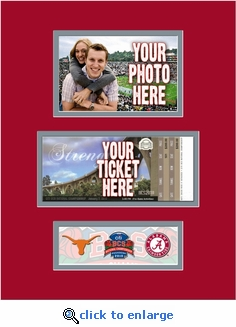 2010 BCS Championship Game 4x6 Photo and Ticket Frame - Frame-it-Yourself - Texas vs Alabama