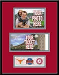 2010 BCS Championship Game 4x6 Photo and Ticket Frame - Texas vs Alabama