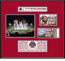 2010 BCS Championship Ticket Frame - Alabama Crimson Tide