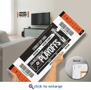 2010 NHL Stanley Cup Final Canvas Mega Ticket - Philadelphia Flyers