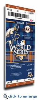 2010 World Series Canvas Mega Ticket - San Francisco Giants