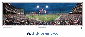 2010 World Series Game 1 Night Shot Panoramic Photo - San Francisco Giants