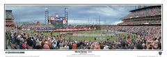 2010 World Series Game 1 Opening Ceremony Panoramic Photo - San Francisco Giants