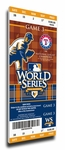 2010 World Series Canvas Mega Ticket - Texas Rangers (First World Series)