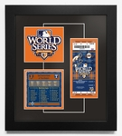 2010 World Series Replica Ticket & Patch Frame - San Francisco Giants
