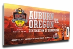 2011 BCS National Championship Game Canvas Mega Ticket - Auburn Tigers