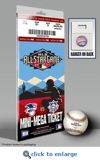 2011 MLB All-Star Game Mini-Mega Ticket - Arizona Diamondbacks - MVP Prince Fielder