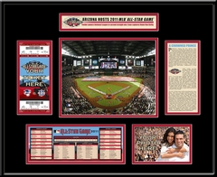 2011 MLB All-Star Game Ticket Frame - Diamondbacks