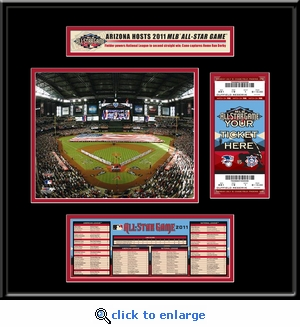 2011 MLB All-Star Game Ticket Frame Jr - Diamondbacks