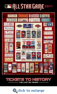 2011 MLB All-Star Game Tickets to History Poster - Diamondbacks