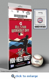 2011 MLB Home Run Derby Mini-Mega Ticket - Arizona Diamondbacks - Robinson Can�