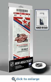 2011 NHL All-Star Game Mini-Mega Ticket - Carolina Hurricanes