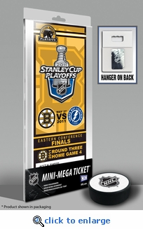 2011 NHL Eastern Conference Finals Commemorative Mini-Mega Ticket - Boston Bruins