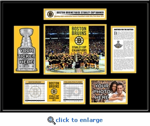 2011 NHL Stanley Cup Champions Banner Raising Ticket Frame - Boston Bruins
