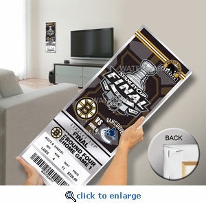 2011 NHL Stanley Cup Final Commemorative Mega Ticket - Boston Bruins