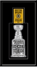 2011 NHL Stanley Cup Champions Banner Raising Single Ticket Frame - Boston Bruins