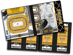 2011 Stanley Cup Champions Banner Raising Ticket Album - Boston Bruins