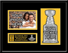 2011 Stanley Cup Champions Banner Raising Your 4x6 Photo Ticket Frame - Boston Bruins