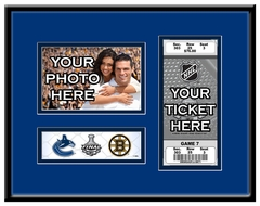 2011 NHL Stanley Cup Final 4x6 Photo and Ticket Frame - Vancouver Canucks