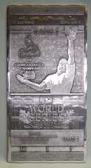 2011 World Series Commemorative Hand Forged Metal Ticket - St Louis Cardinals