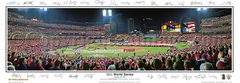 2011 World Series Panoramic Photo Game 1 Opening Ceremony with Player Sigs - St Louis Cardinals