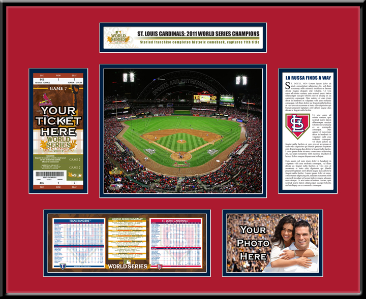 2011 world series ticket frame st louis cardinals