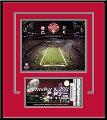 2012 BCS Championship Game Replica Ticket Frame - Alabama Crimson Tide